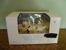 Pottery Barn Kids Remote Control Wooden Motorcycle ~ New