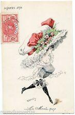 ROBERTY. La mode 1909 . Erotique . Lingerie .Erotic .Underwear .Le sourire n° 52