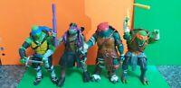 Teenage ninja Mutant Turtles Action figure Bundle With Weapons Paramount...