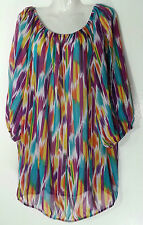 1d3ae8b27d Ashley Stewart Top Blouse 26 3x Multi Colored Plus Size Tops