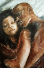 "African American Art ""Good Night"" Black Romantic art print Andrew Nichols"