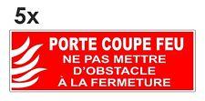Sticker signalétique plastifié PORTE COUPE-FEU mod.1 - 15cm x 5cm