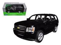 2008 Chevrolet Tahoe Black 1:24 Diecast Model - Welly 22509BK *
