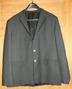 Herren Anzug Gianni Versace Tessuti Grau Schwarz leichte Streifen (1)