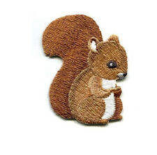 Squirrel - Wild Forest Animal - Autumn - Fall - Embroidered Iron On Patch - R
