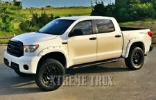 For 07-13 Toyota Tundra Pocket Rivet Fender Flares Paintable Black Smooth Set