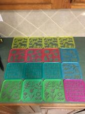 Tupperware tuppertoys stencils toy Drawing lot of 16
