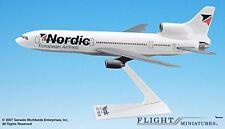 Nordic Lockheed L-1011 Airplane Miniature Model Snap Fit 1:250 Part# ALK-101