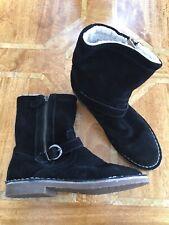 Esprit Black Suede Lined Ankle Boots Eur 39
