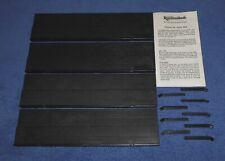 Rummikub 1990 Pressman Rummy Tile Game ~ Replacement Tile Racks Set + Book Lot