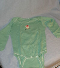 Green Onesie Naughty or Nice Santa Christmas Long Sleeve Size 6 mos months NEW