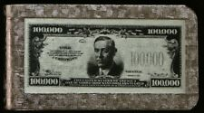 U.S.A. $100,000.00 Note Money Card Clip Mint Silver