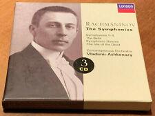Rachmaninov The Symphonies ASHKENAZY LONDON 3 CD BOX MINT Made in Germany
