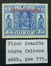 Iceland 35 aur. Parliament 1930 Official Dot in Front of Falcon´s Nose Pos.115