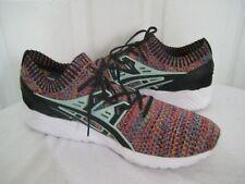 Asics Gel Kayano Trainer Knit HN7Q4 Black Green Running Shoes Mens Sz 46 / 11.5