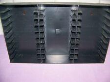 Case Logic 30 Cassette Tape Rack Storage Holder Organizer Wall Mnt Black Plastic