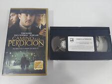 CAMINO ZU VERDERBEN TOM HANKS PAUL NEWMAN LAW - VHS KASSETTE TAPE SPANISCH