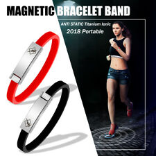 Portable ANTI STATIC Titanium Ionic Magnetic Silicone Bracelet Band Wrist Strap