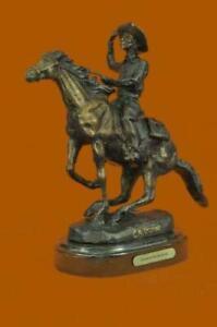 Original Seasoned Cowboy on Horse Western Old West Bronze Sculpture Statue Gift