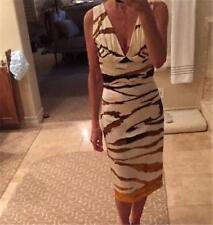 Roberto Cavalli Tiger Print Silk Dress Size 40