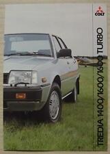 MITSUBISHI COLT TREDIA Car Sales Brochure Oct 1982  1400, 1600 & 1600 Turbo
