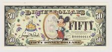 $50 BOYER DISNEY DOLLAR 2005 50th Anniversary Collectible Disneyland Fifty NEW