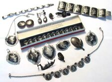 large vintage lot of Siam Sterling Silver jewelry ( 17 items 257 Grams)