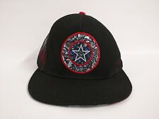 MARVEL Captain America Logo Black Snapback Trucker Baseball Cap Hat