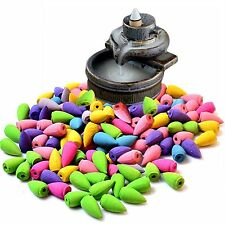 70 Pcs Backflow Natural Smoke Pagoda Indoor Incense Cone Bullet Aromatherapy