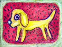Watermelon Labrador Retriever Pop Tart Folk Art Print 4x6 Dog Collectible Signed