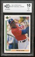 1991 Upper Deck #SP1 Michael Jordan Baseball Rookie Card BGS BCCG 10 Mint+