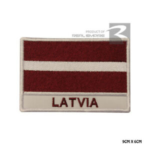 Latvia National Flag Iron on Sew on Embroidered Patch Badge For Clothes Etc
