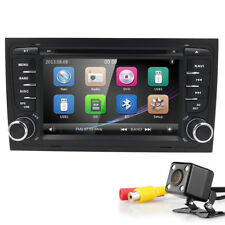 "BT 7"" Touchscreen 2DIN Car stereo Radio DVD Player GPS Navi For Audi A4 S4 +Cam"