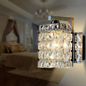 New LED Modern Crystal Wall Lights Aisle/Bedside light Single Head Wall lamp