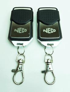 Neco euro version 1 Roller Shutter Garage Door Remote Control fob x2