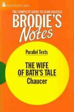 """Very Good, Brodie's Notes on Chaucer's """"Wife of Bath's Tale"""" (Pan study aids), H"""