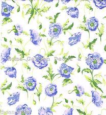 Blue Poppy Flower Kitchen Vinyl Contact Paper Shelf Drawer Liner Peel Stick