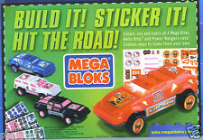 SET 4 MEGA BLOKS general mills cereal race car power ranger hello kitty stickers