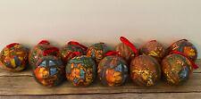 Disney Winnie The Pooh Vintage Christmas Ball Ornaments Set Of 10