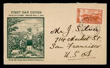 DR WHO 1937 NEW ZEALAND HEALTH STAMPS FDC C176643