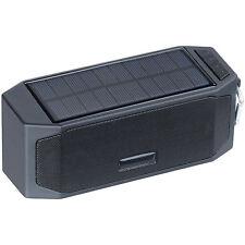 auvisio Solar-Lautsprecher mit Bluetooth-3.0, Freisprecher, Powerbank, 12 Watt