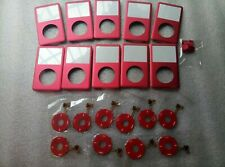 10X Red Front Housing Cover FacePlate Panel iPod Classic 6th 7th Gen 160GB 120GB