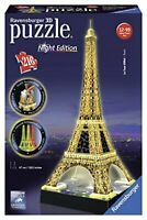 Ravensburger Eiffel Tower Night Edition 216 piece 3D Jigsaw Puzzle with LED