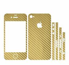22 FARBEN IPHONE 4S FOLIE GOLD CARBON ( BUMPER COVER HÜLLE SKIN SCHALE CASE )