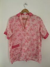 Ladies Nightwear Top Caprice 20-22 Pink Cotton Short Sleeve Cotton <JS4492