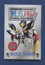 2000 Gundam M.S. War Trading Card Game Authentic Official Rule Book - Rare !!!
