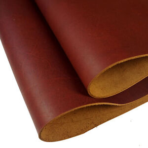5-6oz Full Grain Leather Hides Veg-Tanned Cowhide Leather Sheets Tooling Leather