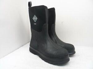Muck Boot Men's Mid-Cut Chore Neoprene Rubber Boots Black/Black Size 10M