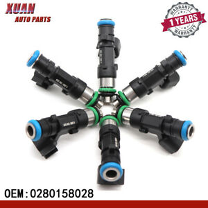 New Fuel Injectors 0280158028 4591986AA For Dodge Chrysler Sebring 2.7L 3.5L V6