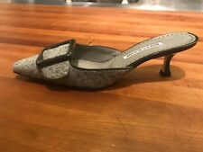 manolo blahnik maysale size 40, blue are sold, grey still available, $500